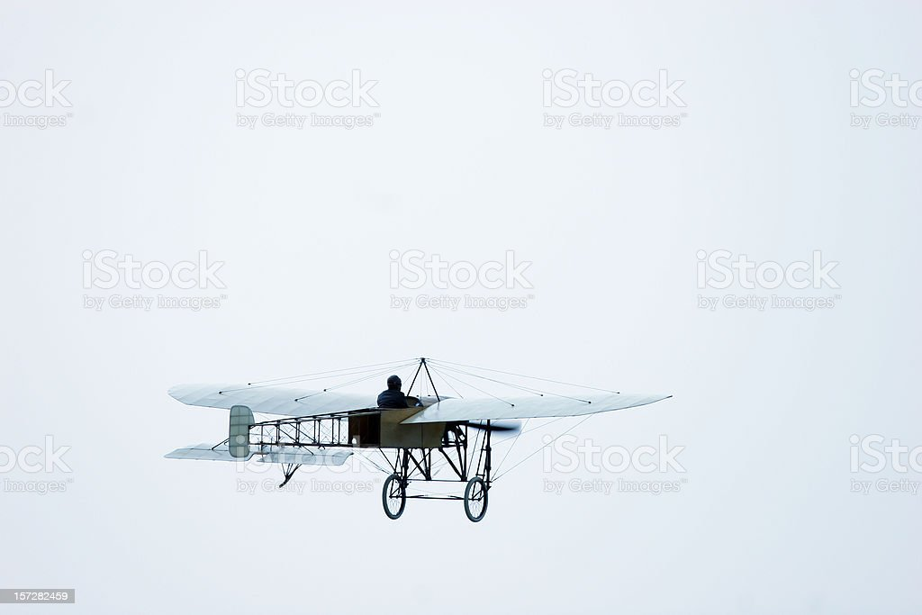 Plane oldtimer from 1907 stock photo