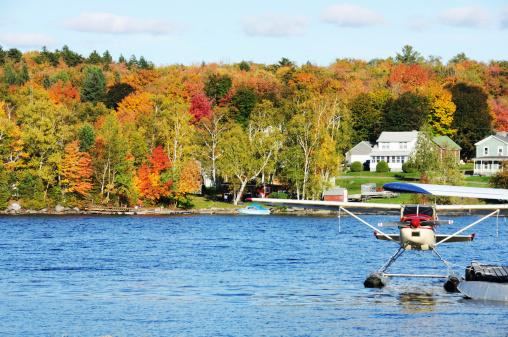 Plane on Autumn Lake