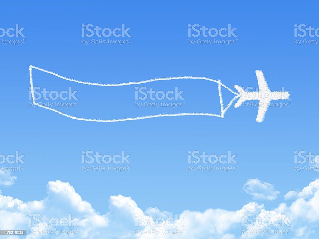 Avion sur concept nuage en forme de rêve - Photo