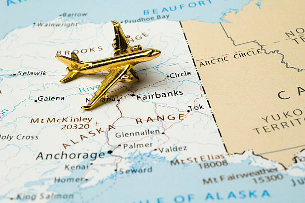 Usa States On Map Alaska Pictures Images And Stock Photos IStock - Mt mckinley on us map