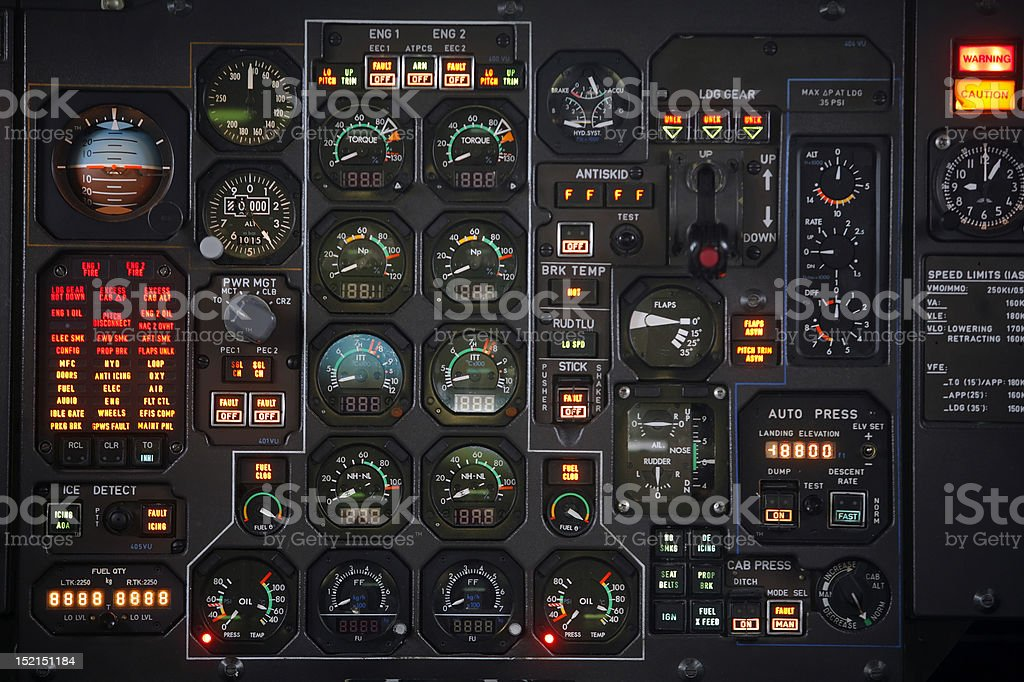 Plane panel royalty-free stock photo