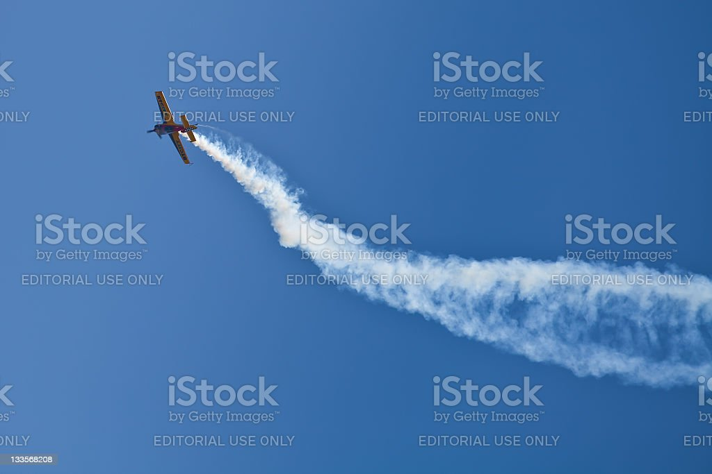Plane performing during Zagreb Air Show 2011 royalty-free stock photo