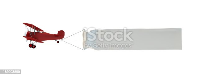 istock Plane pulling a banner 185003869