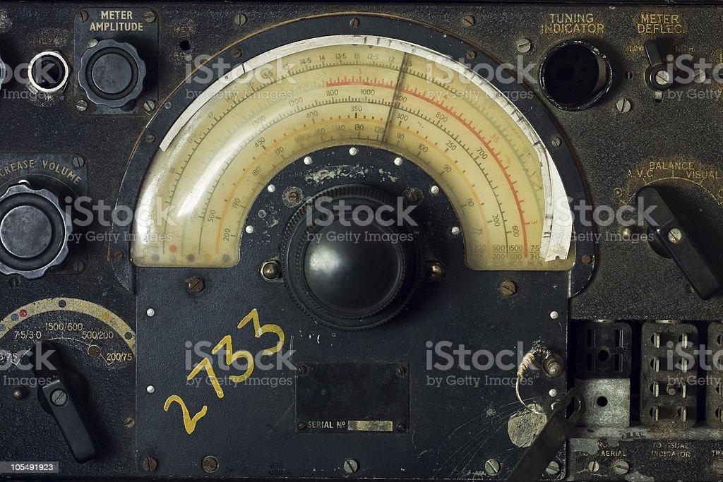WWII Plane Radio stock photo