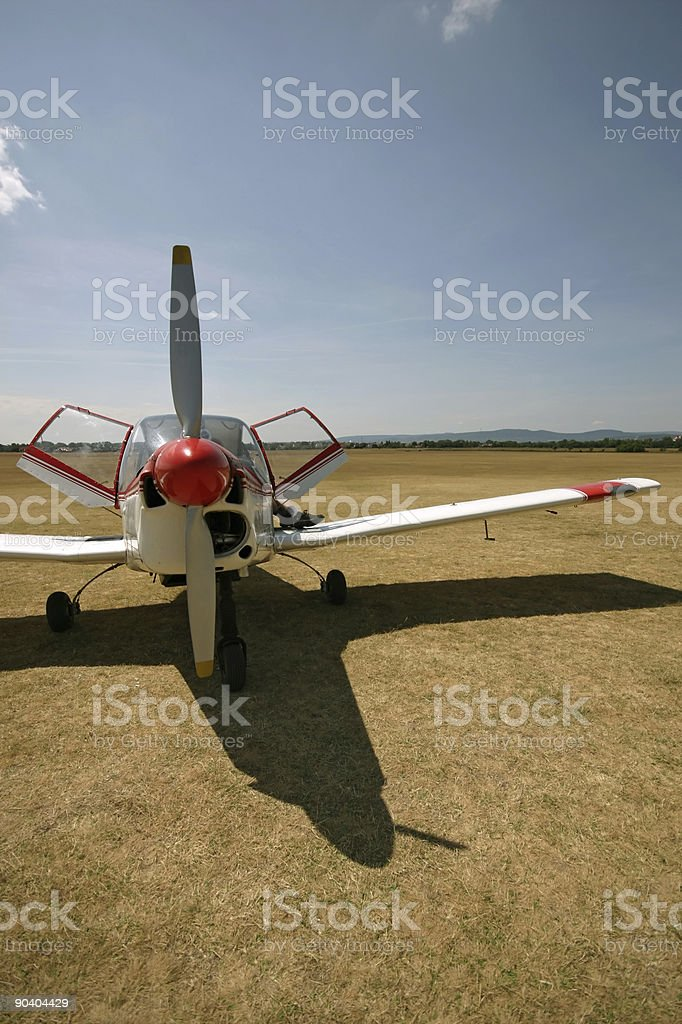 Plane red front royalty-free stock photo