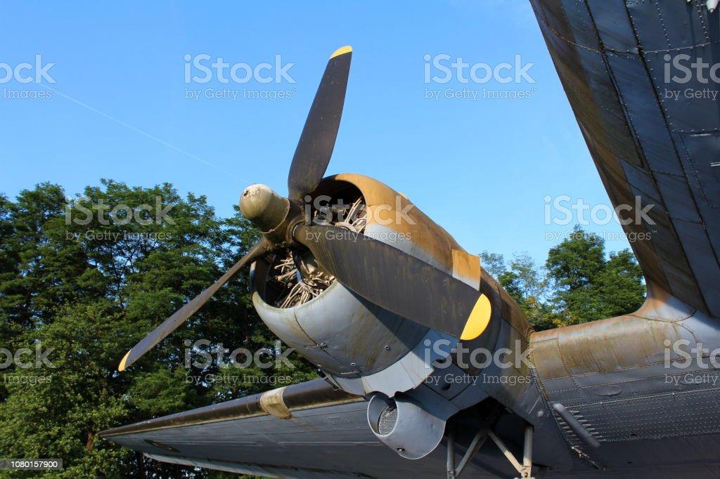 Plane rotary engine stock photo