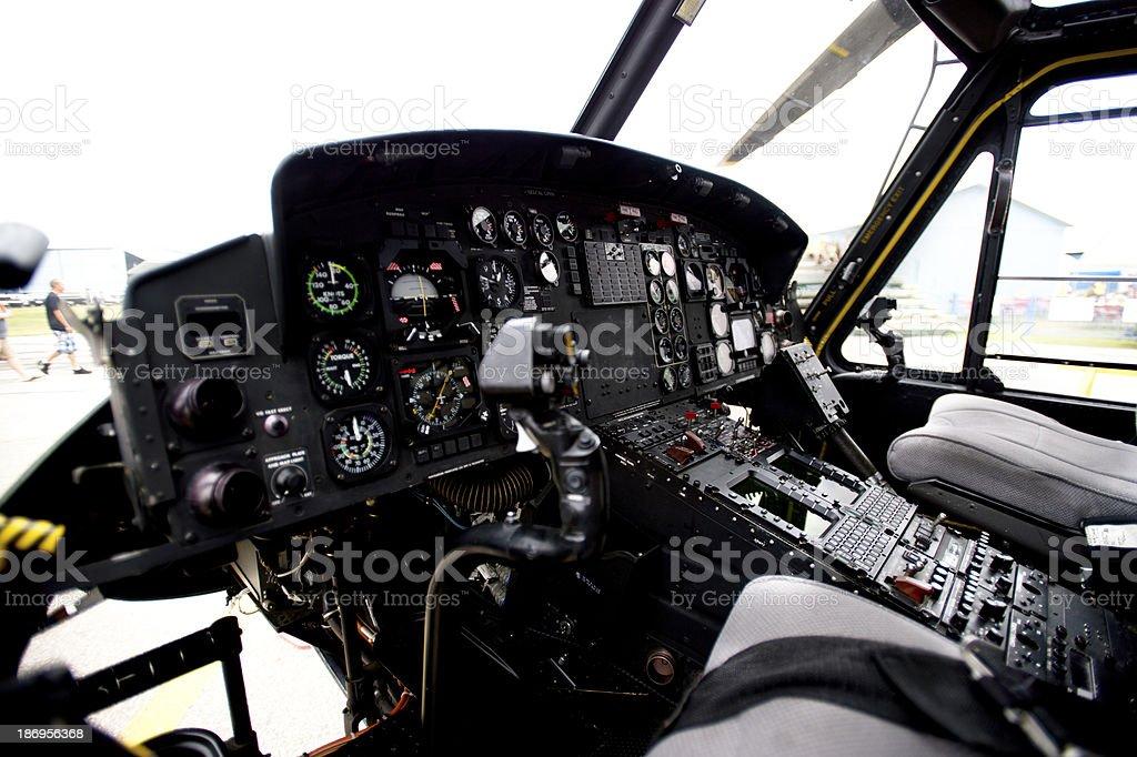 Plane s cockpit royalty-free stock photo