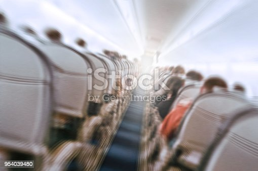 istock plane shakes during turbulence flying through the air hole. 954039480
