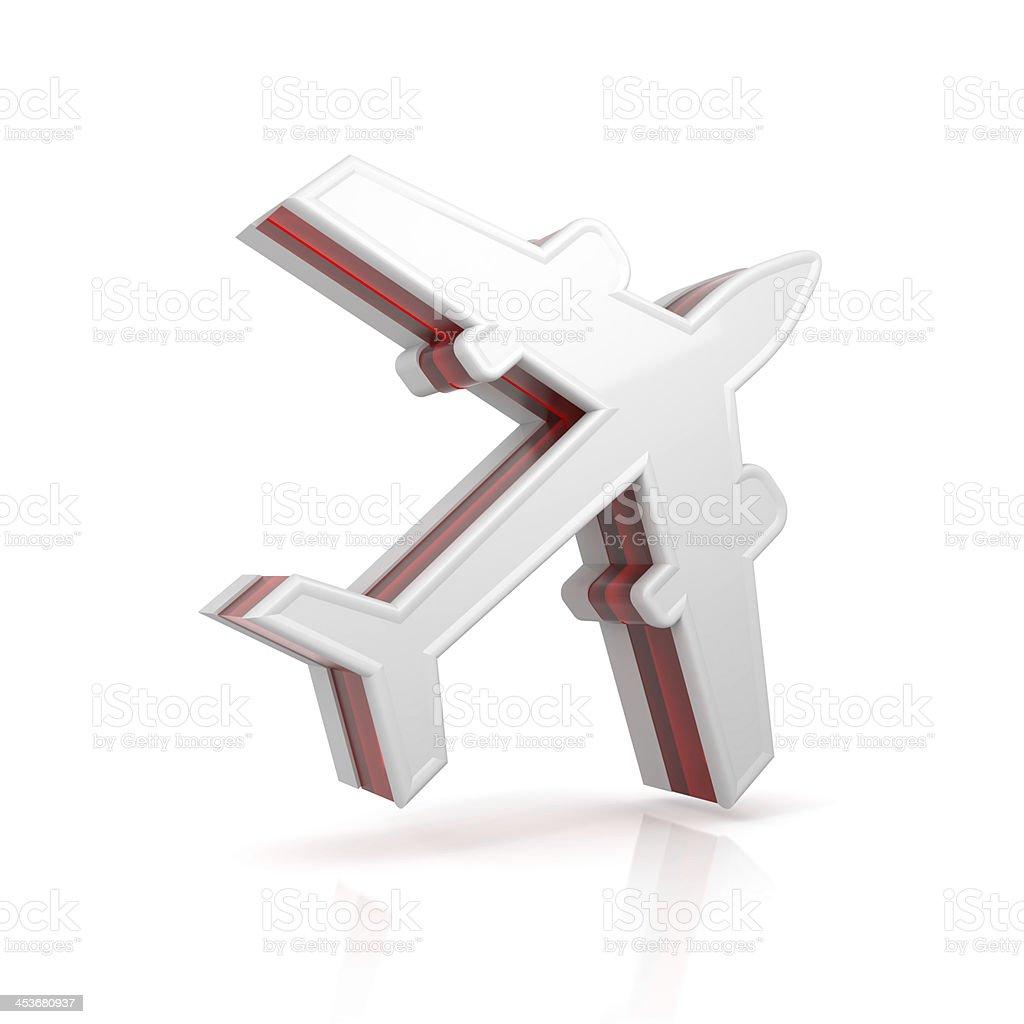 plane symbol stock photo