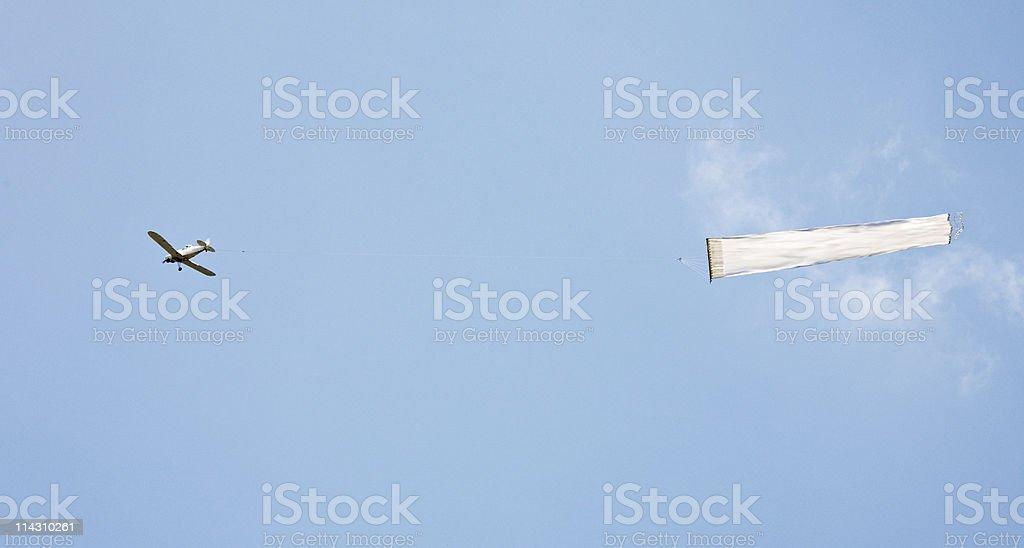 Avion bannière vierge REMORQUAGE - Photo