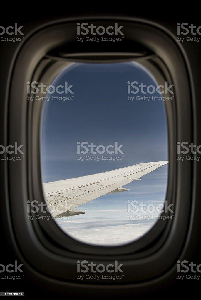 Plane Window royalty-free stock photo