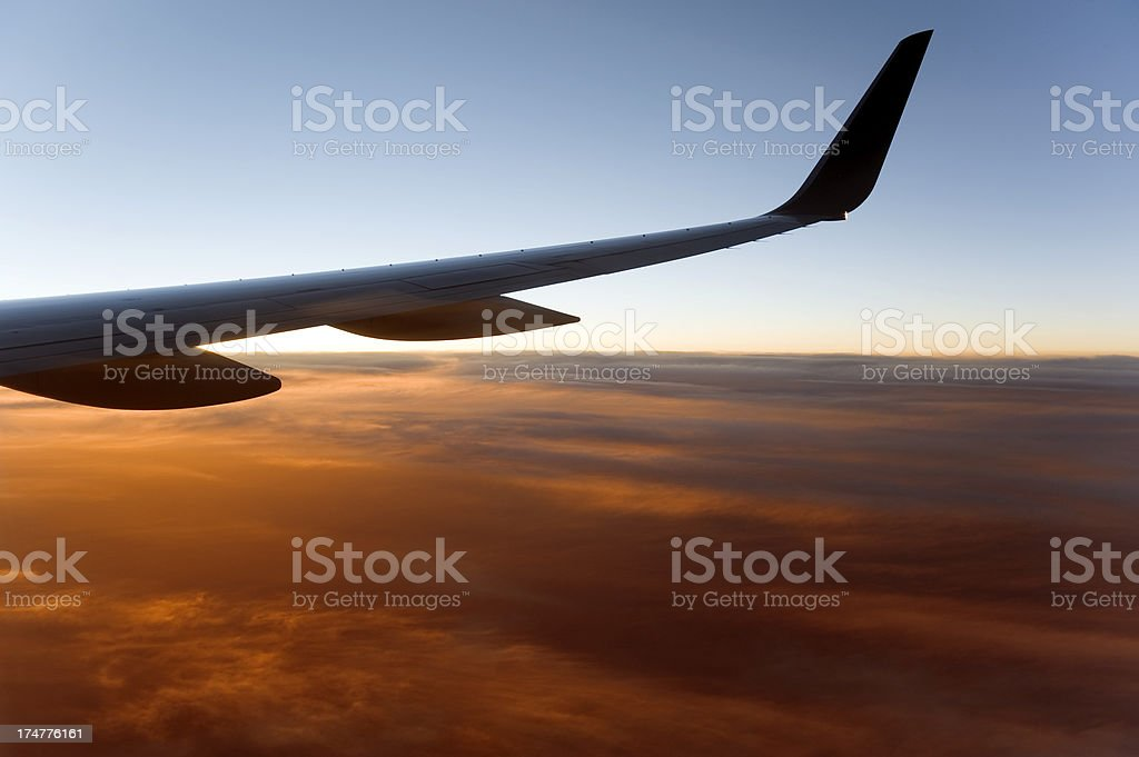 Plane Wings stock photo
