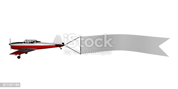 istock Plane with banner 521291185