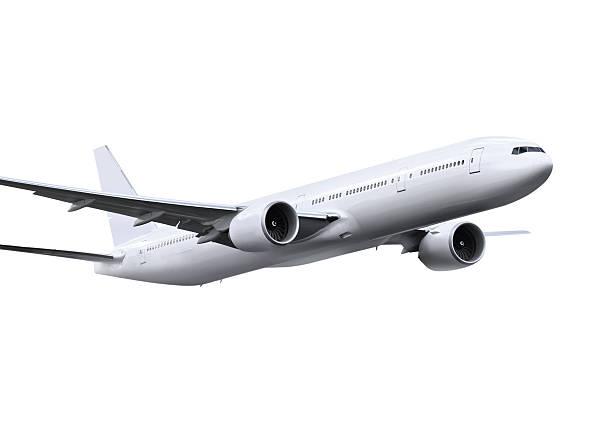 Flugzeug mit path – Foto