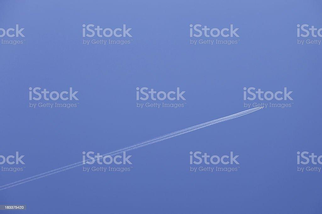Plane with vapor stripes # 11 XXXL royalty-free stock photo