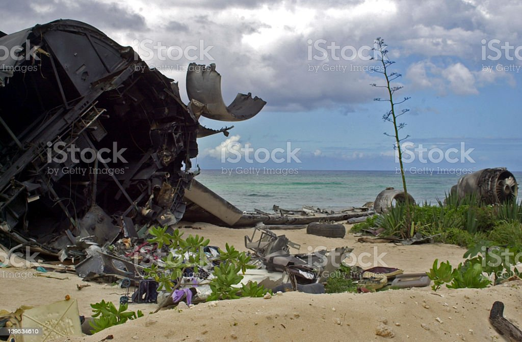 Plane wreck royalty-free stock photo