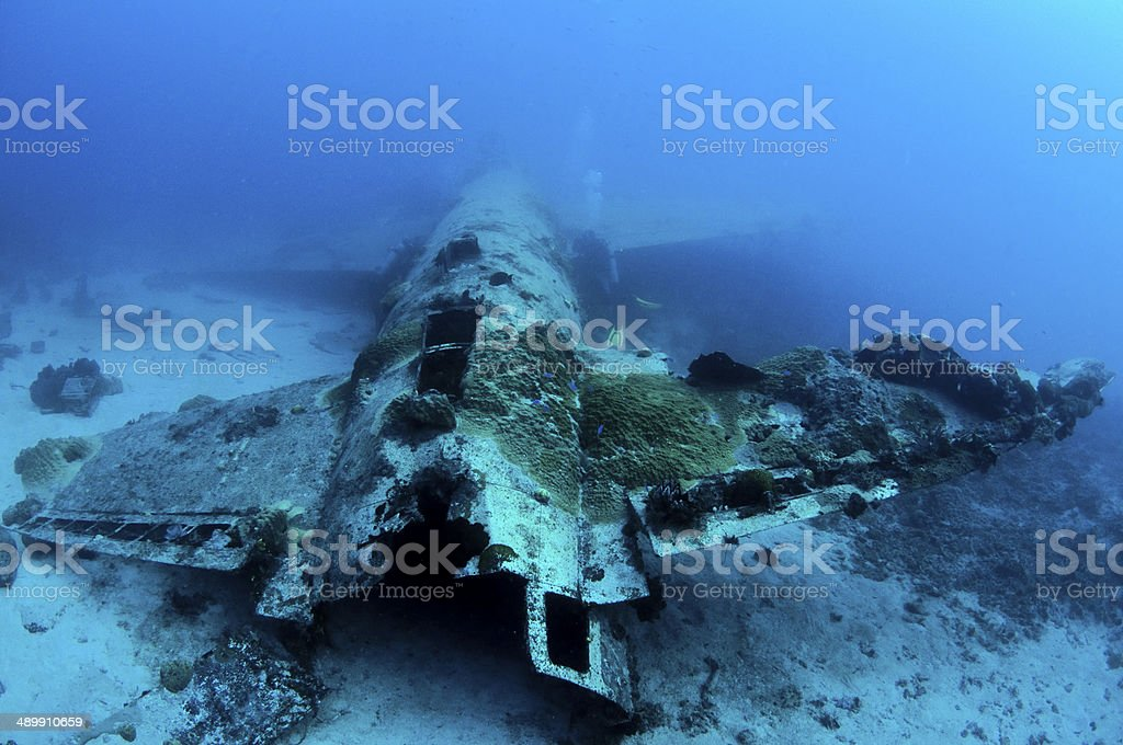 Plane wreck stock photo