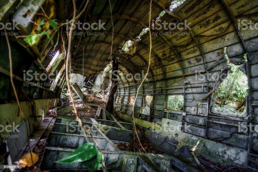 Plane wreckage stock photo