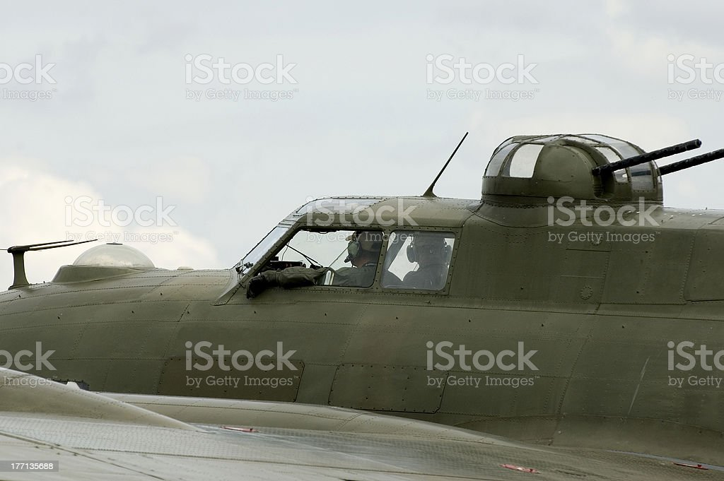 WWII planes at Duxford airshow royalty-free stock photo