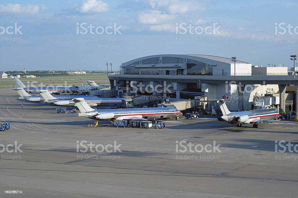 Planes at Terminal stock photo