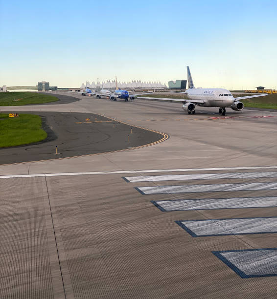 Planes Waiting to Take Off stock photo