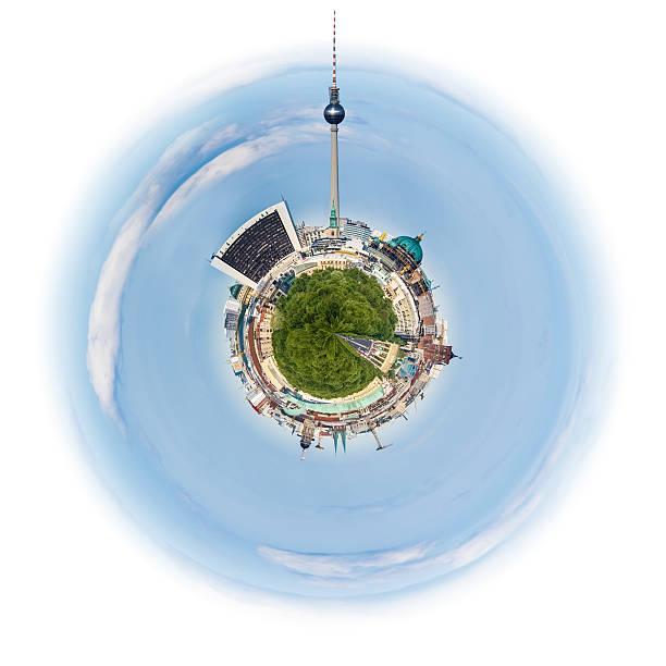 惑星 ベルリン、ドイツ、ベルリンの街並みに、小さな 惑星 - グローサーシュテルン広場 ストックフォトと画像