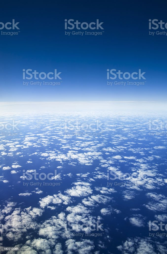 Planet earth and atmosphere from high altitude. royalty-free stock photo