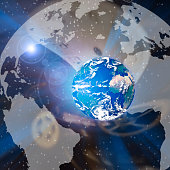 istock Planet Earth and clockface 1289060820