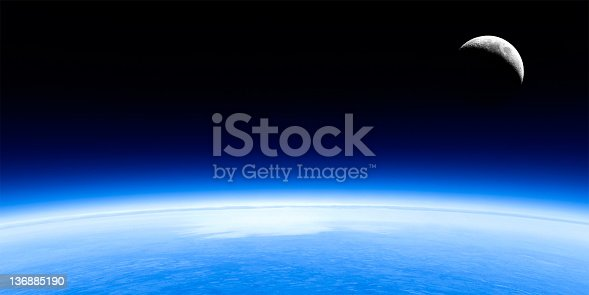 626787550 istock photo planet earth and moon 136885190