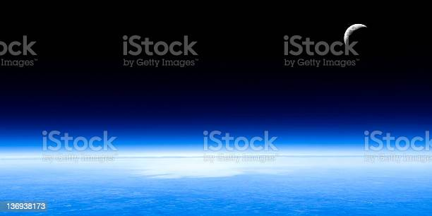 Photo of planet earth and moon
