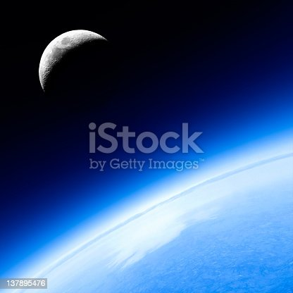 626787550 istock photo planet earth and moon 137895476