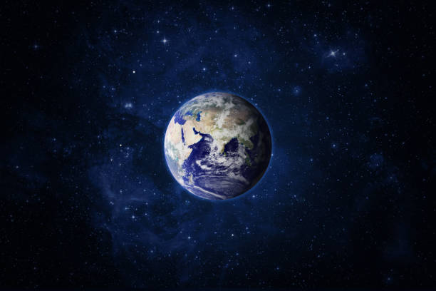 Planet Earth and Space. Space and planet Earth. Eastern hemisphere. Galaxy, nebula and Earth. This image elements furnished by NASA satellite view stock pictures, royalty-free photos & images