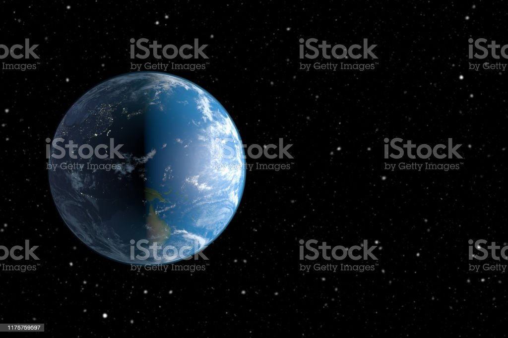 Planet Earth and Space Earth viewed from space. Asia Stock Photo