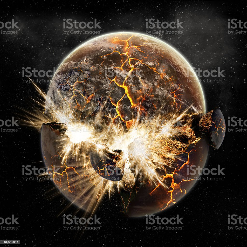 Planet earth apocalypse royalty-free stock photo