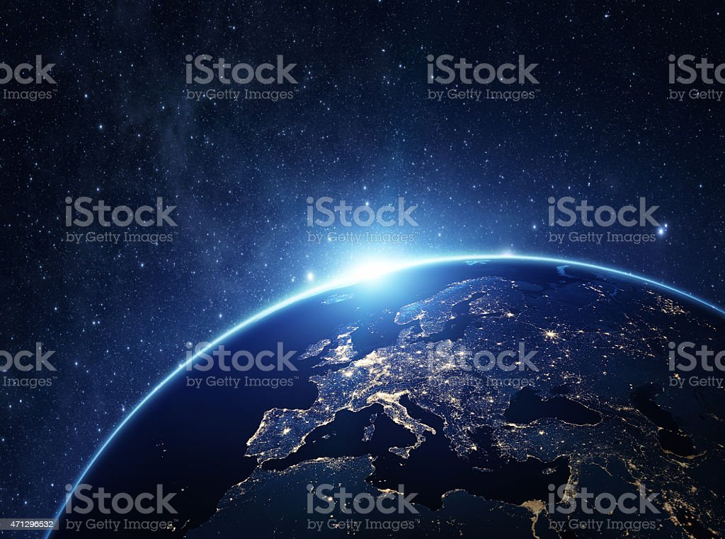 Planet Earth at night​​​ foto