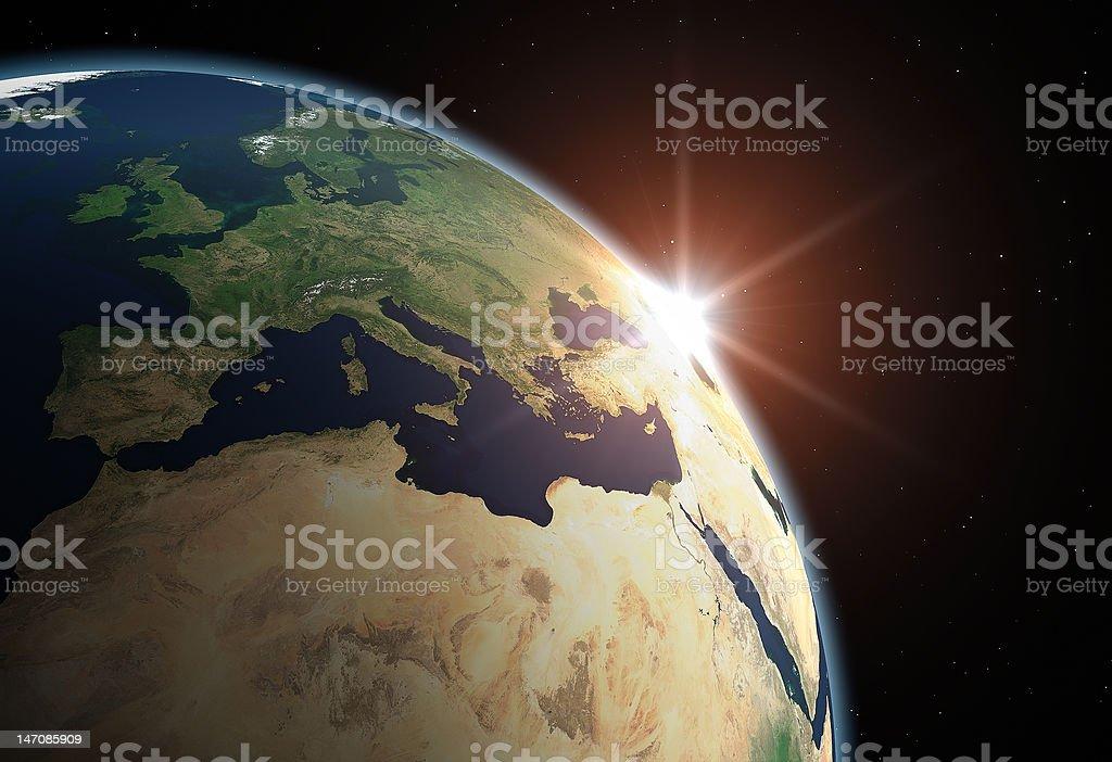 Planet Erde-Europa - Lizenzfrei Abstrakt Stock-Foto