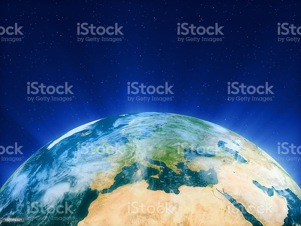 Planet Earth - Europe stock photo