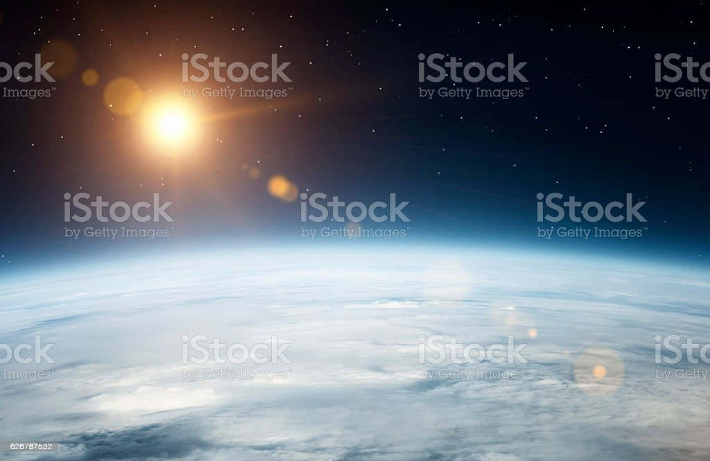 Planet earth from above stock photo