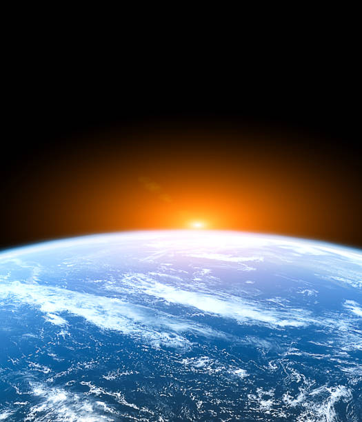 planet earth from the space - stratosphere stock pictures, royalty-free photos & images