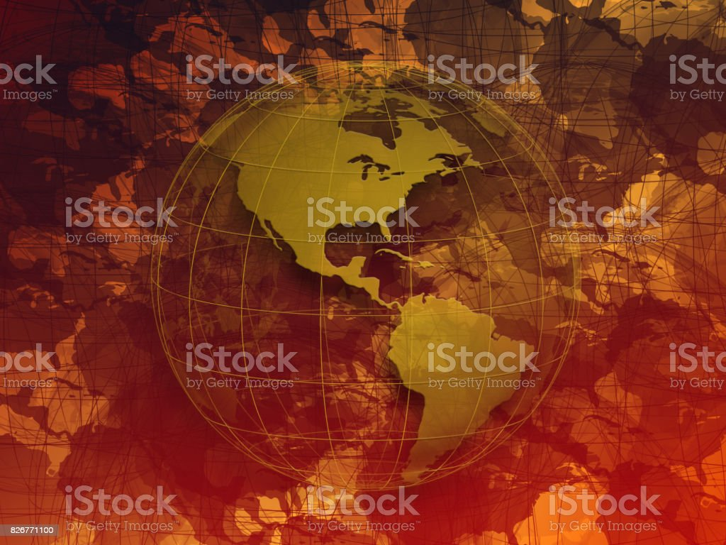 Planet Earth in chaos stock photo