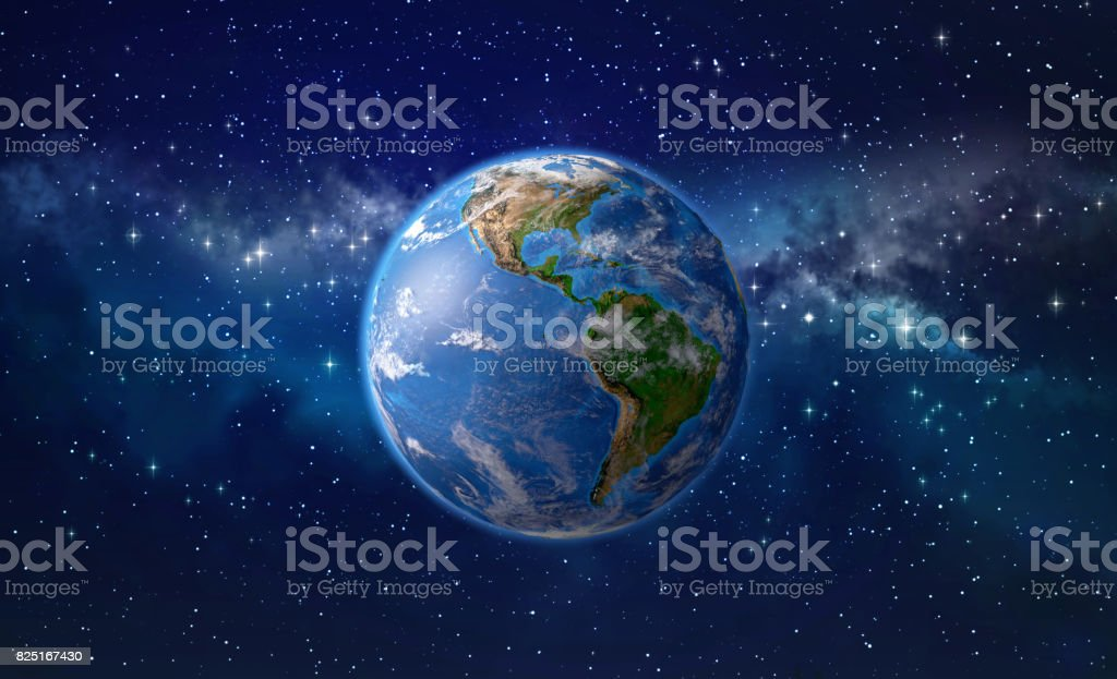 Planet earth in outer space royalty-free stock photo