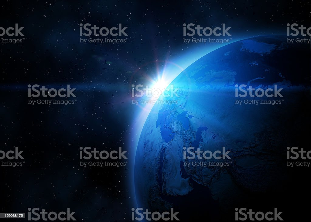 Planet Earth in space royalty-free stock photo
