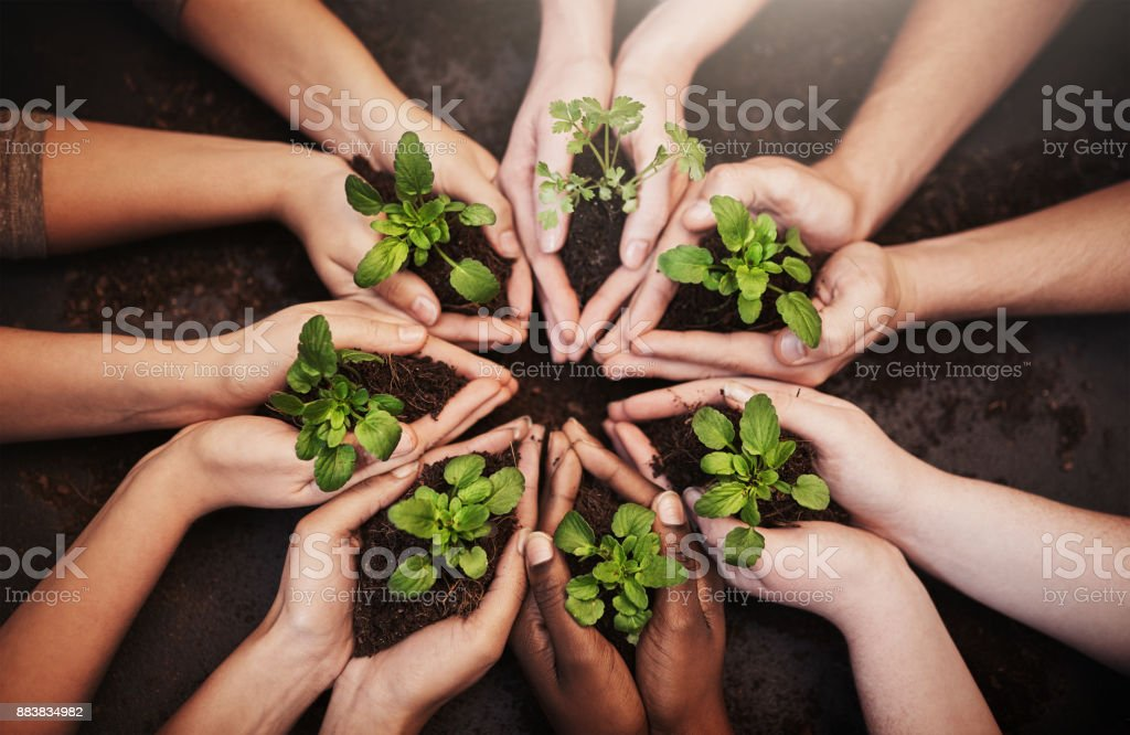 Planet earth is our responsibility stock photo