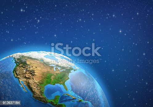 istock Planet Earth. North America from space. 912637184