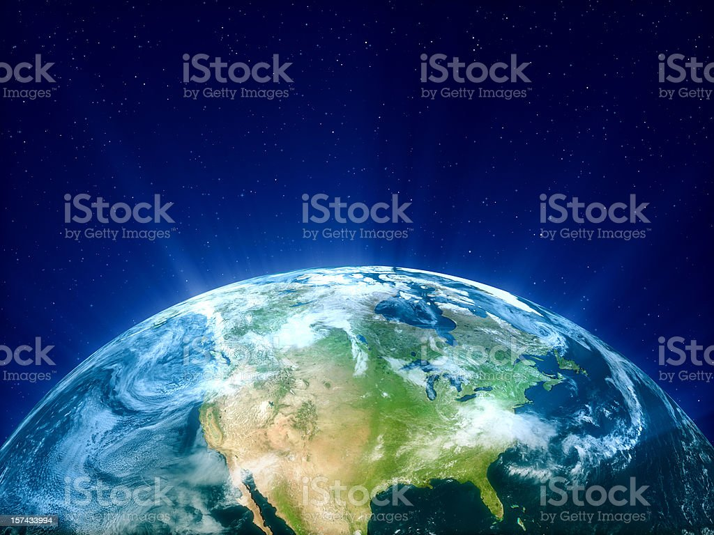 Planet Earth - North America stock photo