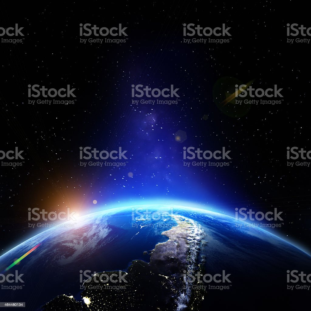 Planet Earth relief stock photo