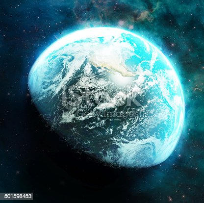 626787550istockphoto Planet Earth - shimmering like a sapphire in the dark 501598453