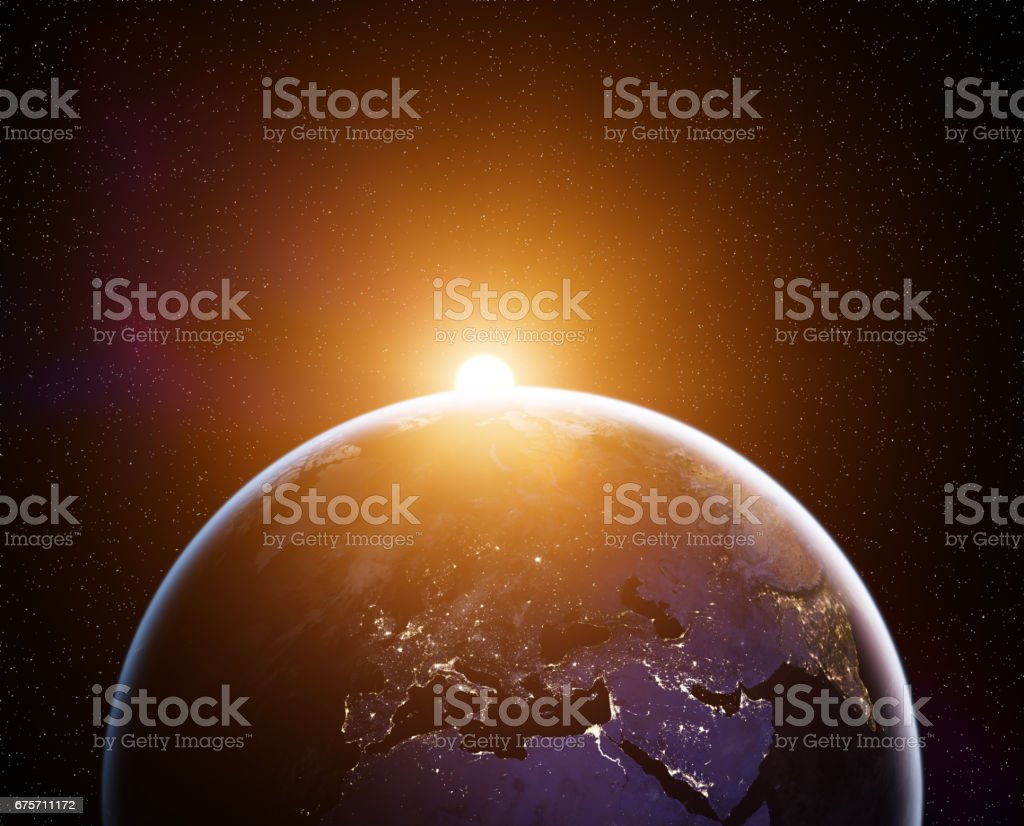 Planet Earth sunrise royalty-free stock photo
