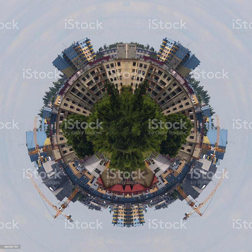 Planet Earth under construction royalty-free stock photo