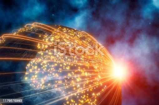 istock Planet Earth With Connection Lines 1179576993